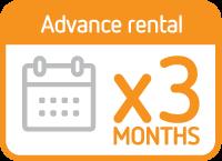 Advanced rental 3 months