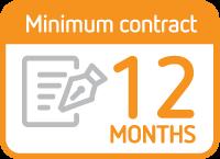 Minimum contract 12 months