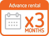 Advance rental 3 months
