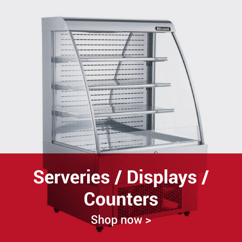 Refrigerated serveries counters displays
